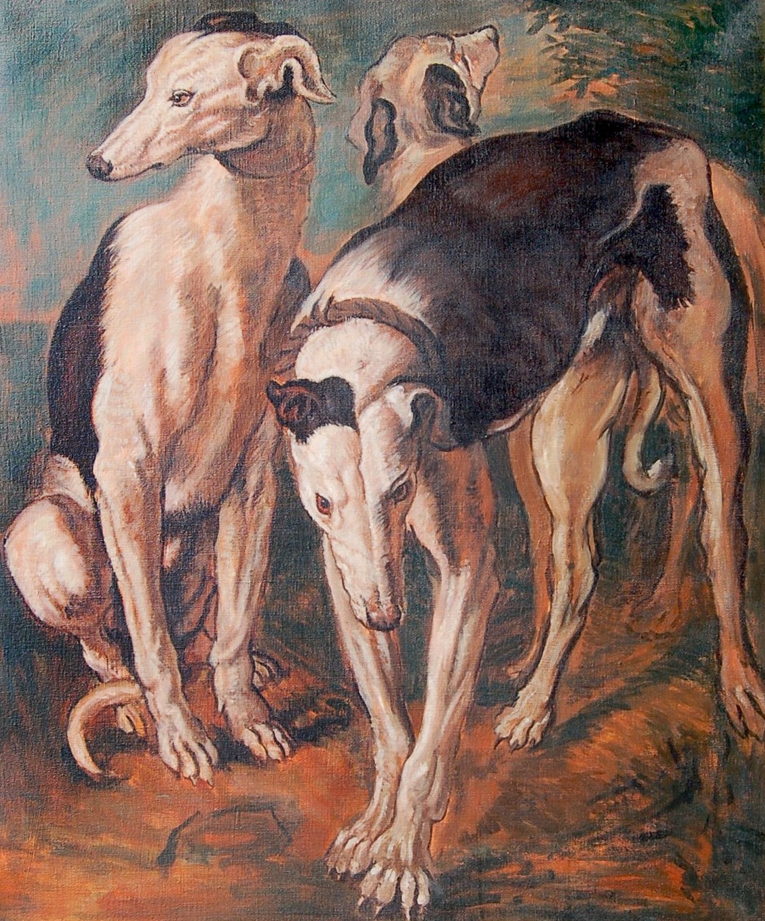 Three Greyhounds: J Snyders 2010 38x33
