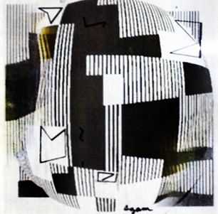 Black And White Agamograph Painting 2002 31x31