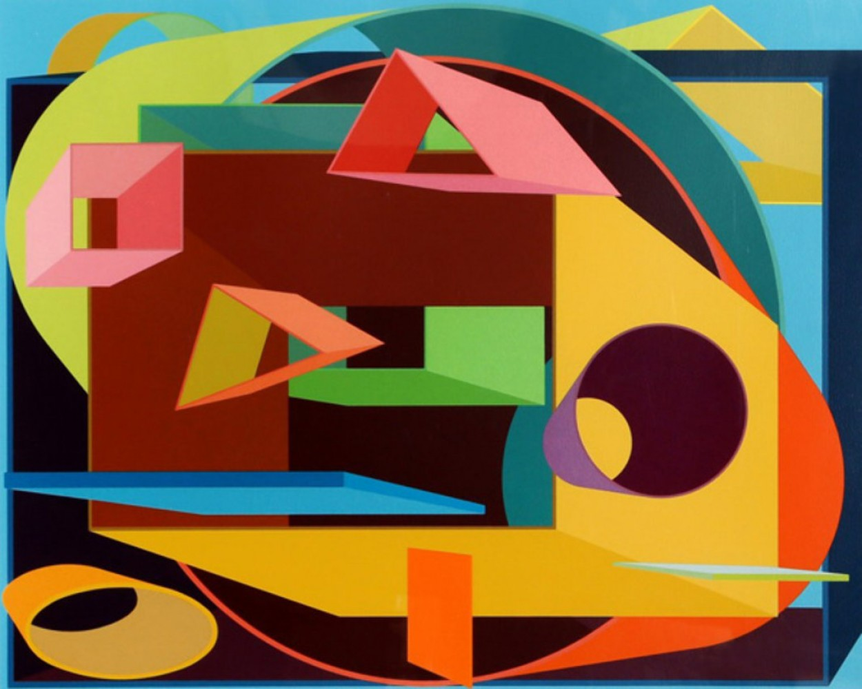 Scholes II 1991 by Al Held