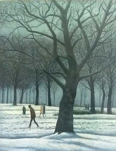 Figures in the Snow AP 1984 by Harold Altman