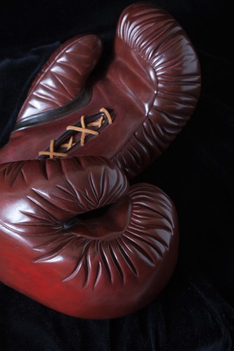 Boxing Gloves Bronze Sculpture