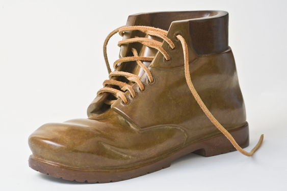 Work Boot Life Size Bronze Sculpture 2010
