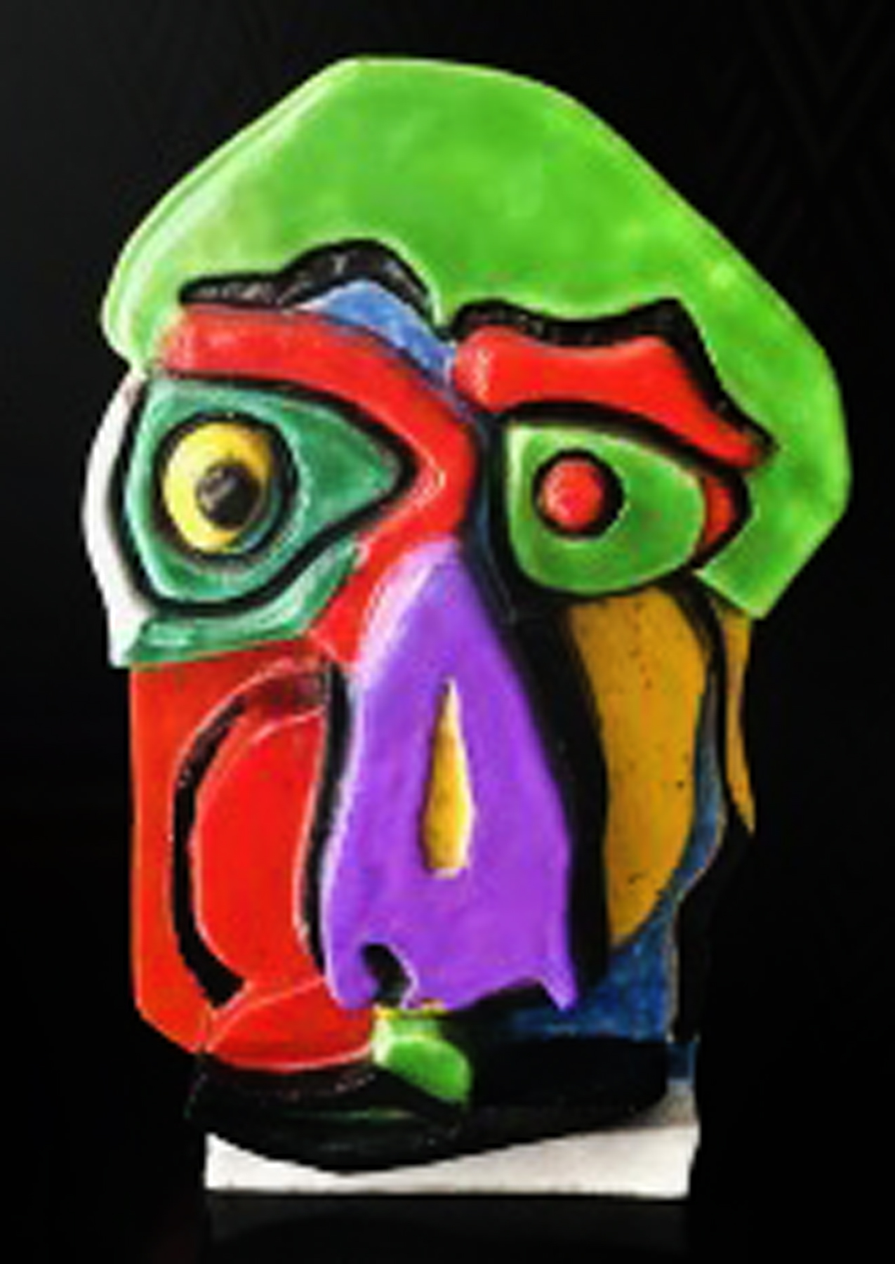 Head Ceramic  Sculpture 21 in