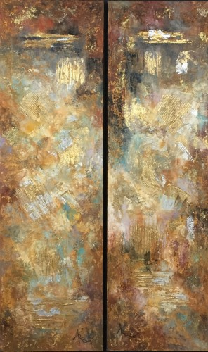 Elements I and II Diptych 44x28