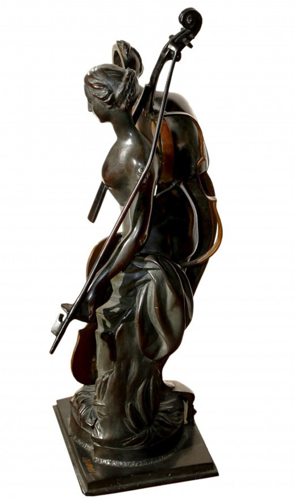Lady Bronze Sculpture 1995 25 in