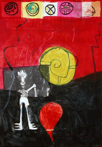 Untitled Works On Paper Monotype 1994 40x30