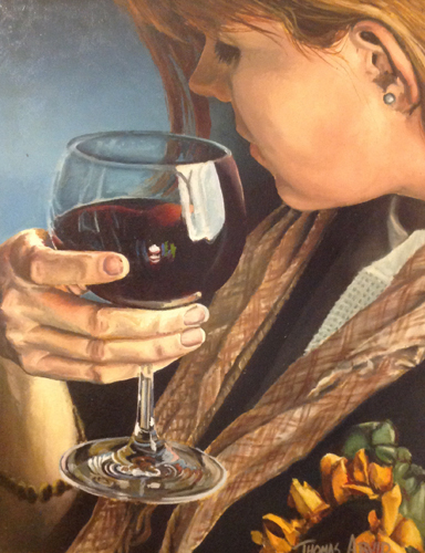 A Glass of Merlot 1993 32x26