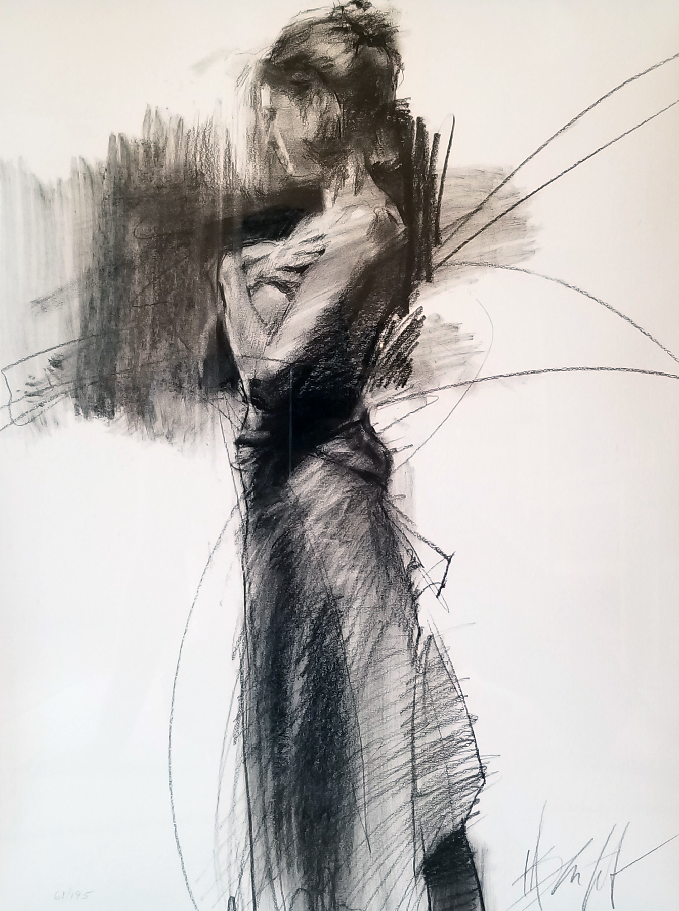 Untitled Charcoal Drawing 24x18