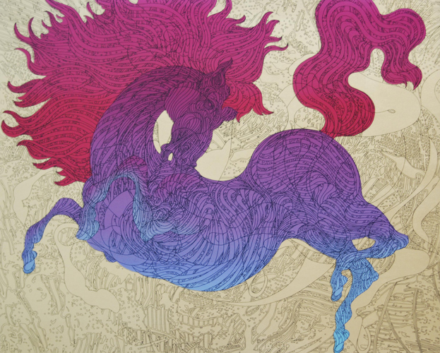 Illustrasted Horse 34x38
