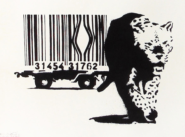 Barcode 2004 by  Banksy