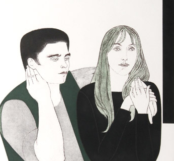Young Couple (Rare early print) 1971