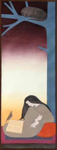 The Caller 1974 93x32 by Will Barnet
