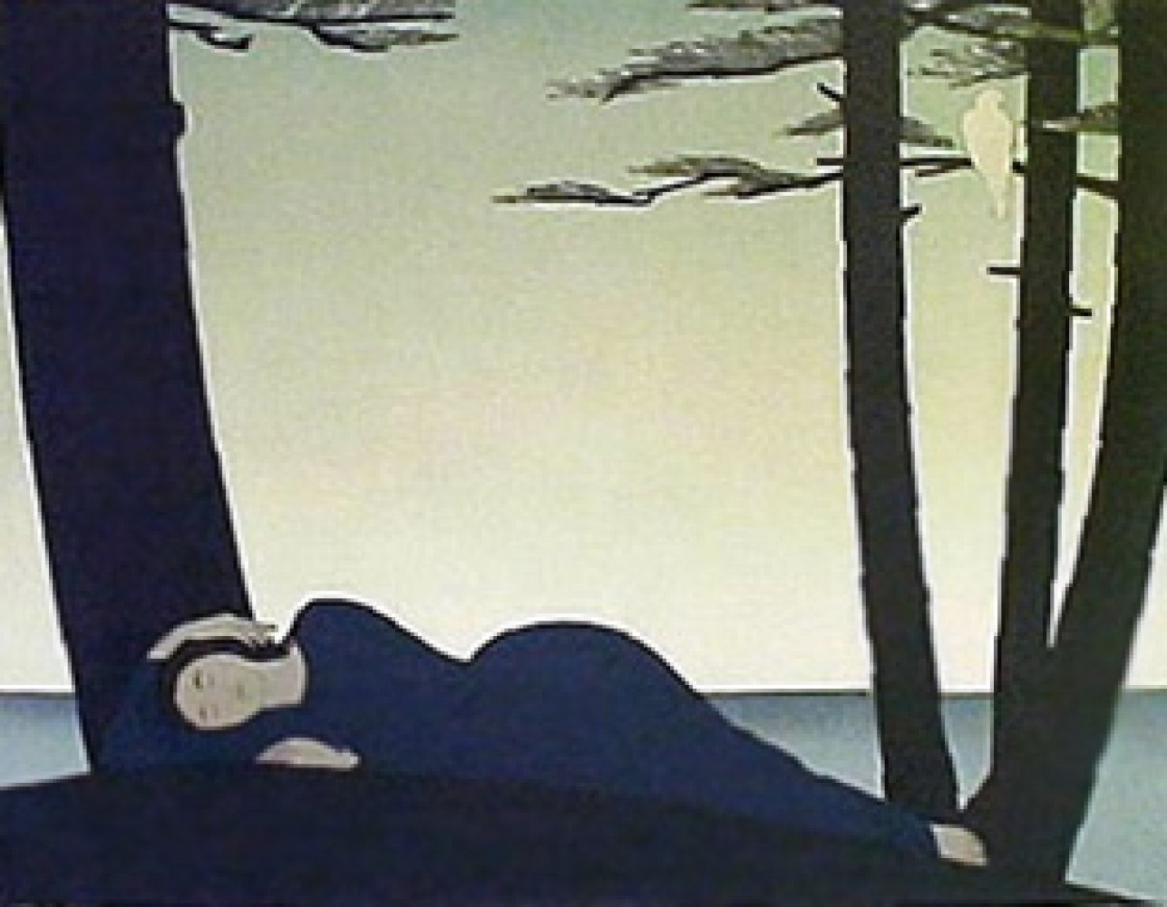 Reclining Woman 1982 by Will Barnet