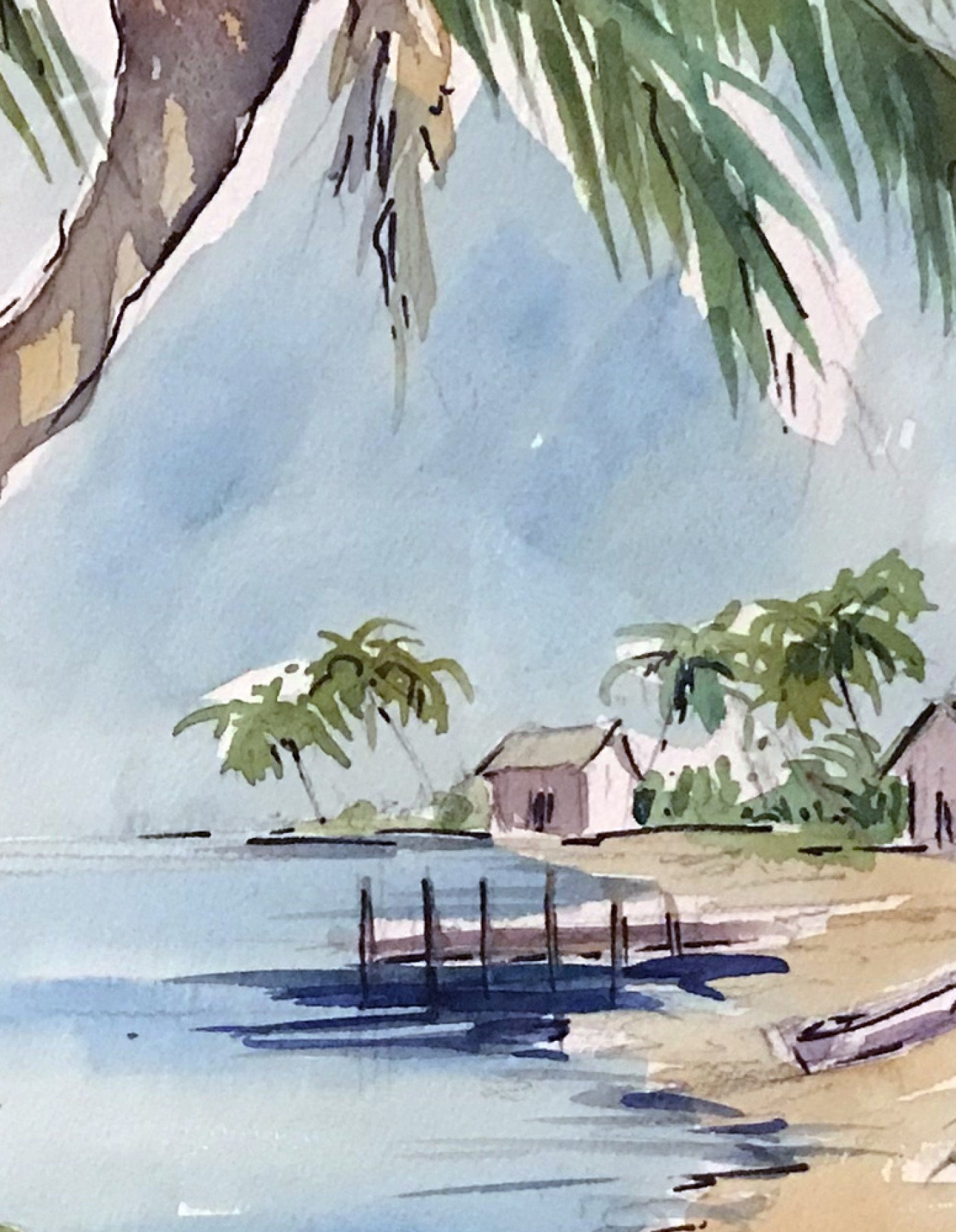 Original Watercolor 15x20 Florida