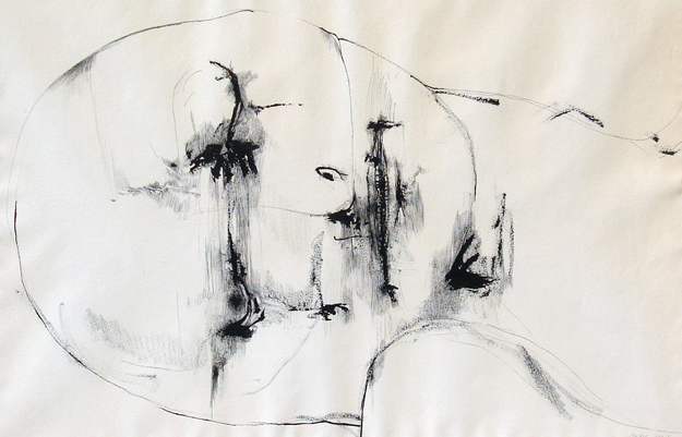 Untitled Drawing of Head 1967