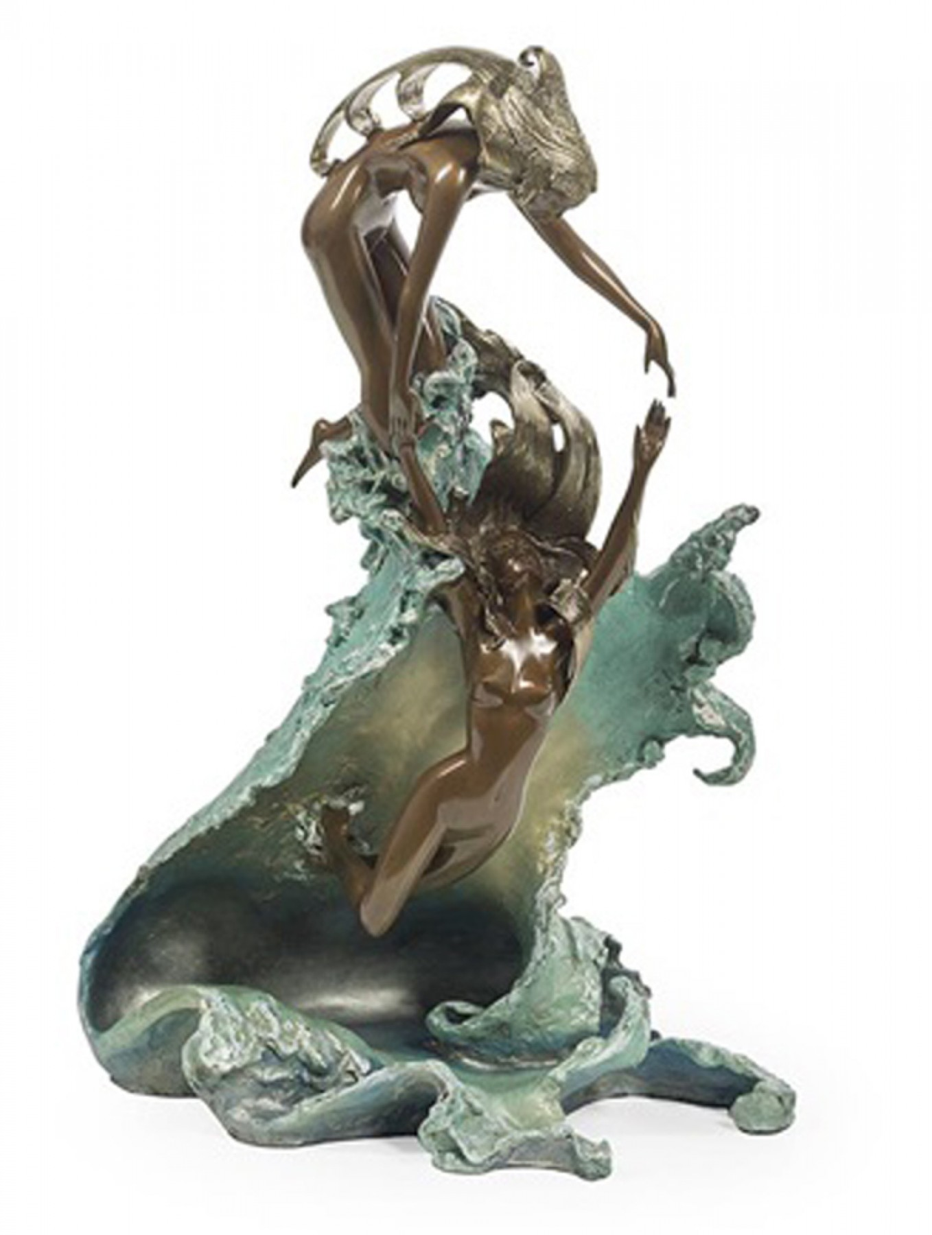 Dancing With Waves Bronze Sculpture 1987 22 in