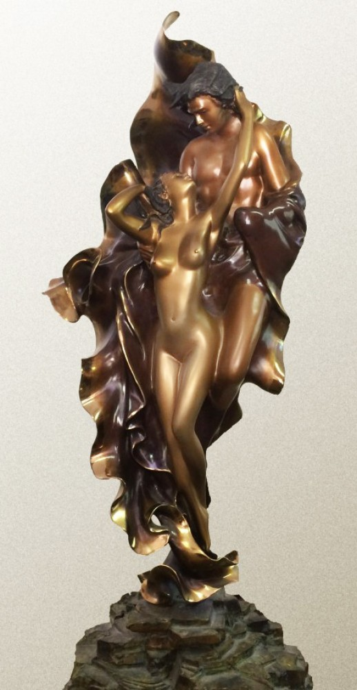 Paolo And Francesca Bronze Sculpture 1989 42 in