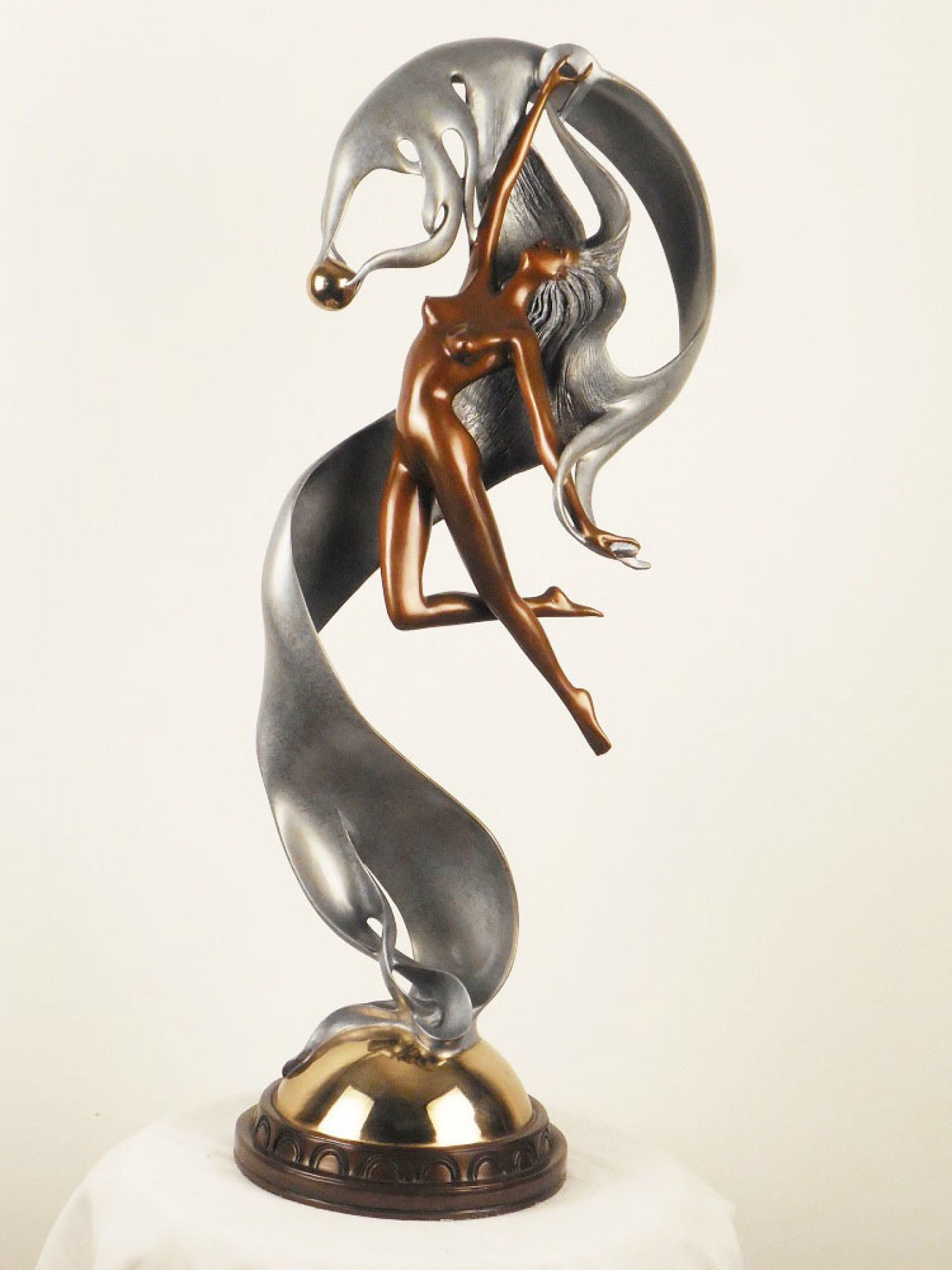 Perla Bronze Sculpture 1987 25 in