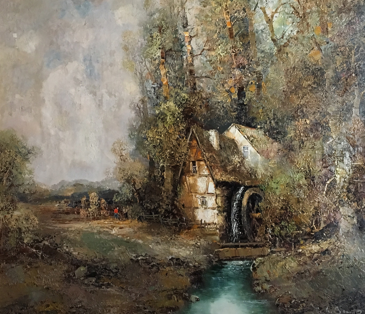 Water Mill in Autumn 37x41
