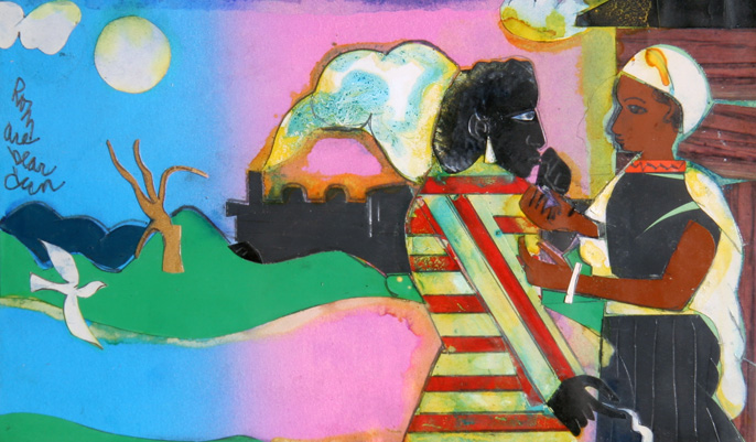 Memories #2 1981 9x10 by Romare Bearden