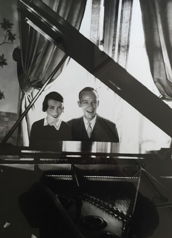 Fred Astaire And His Sister Adele Sitting At a Piano 1929