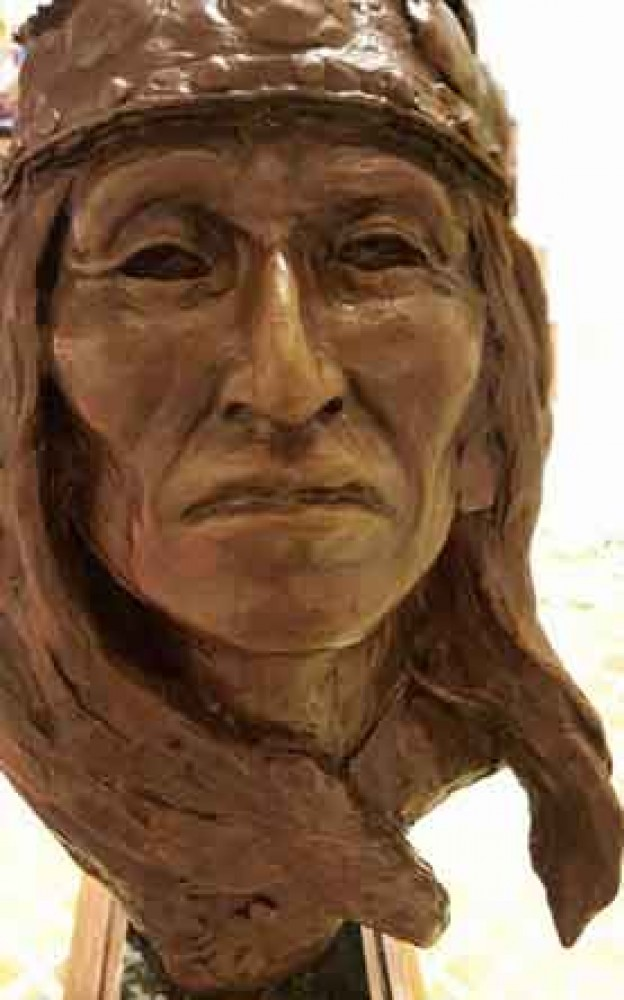 White Mountain Chief Bronze Sculpture 12 in