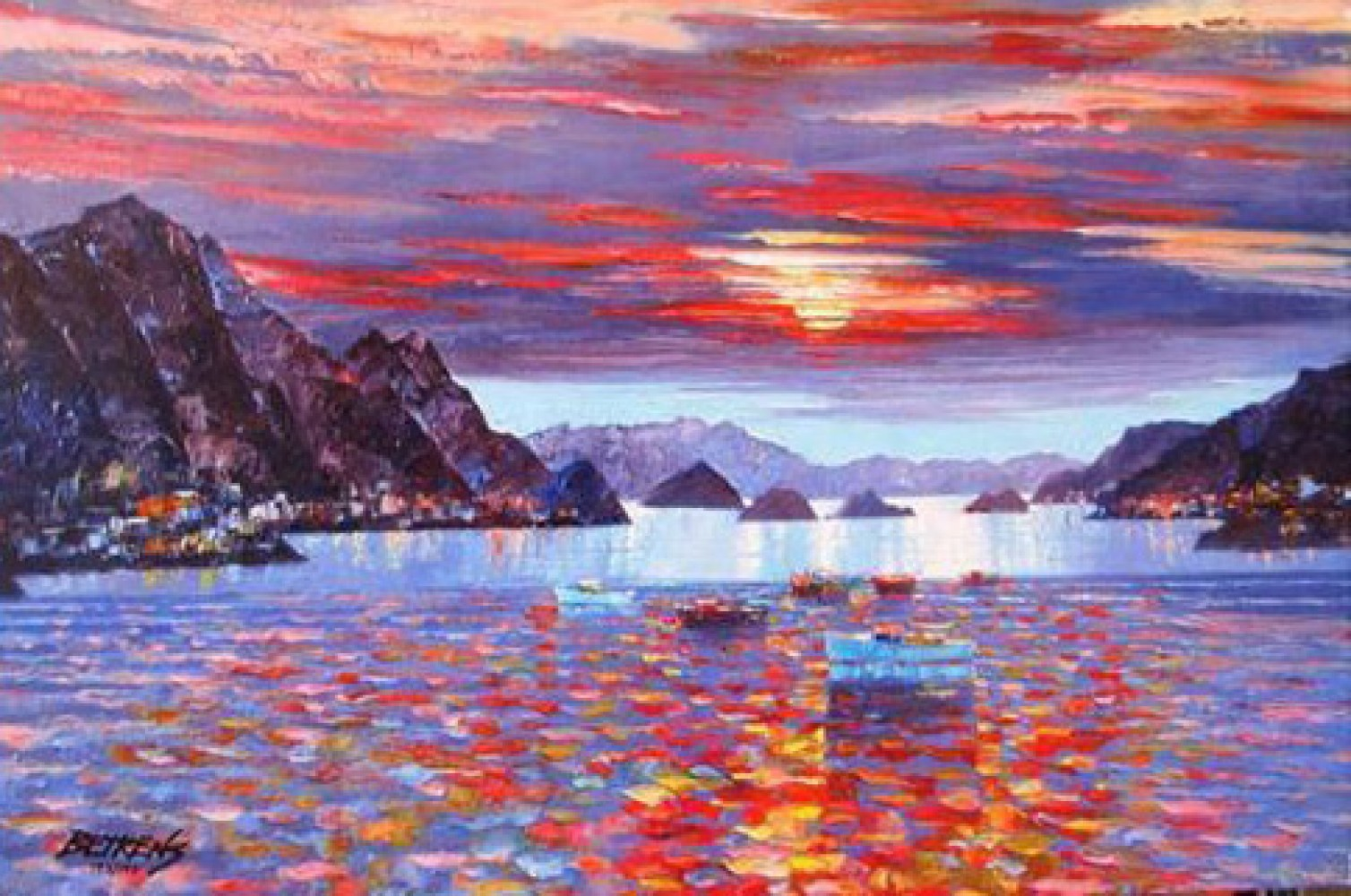 Amalfi Sunset Embellished 2010