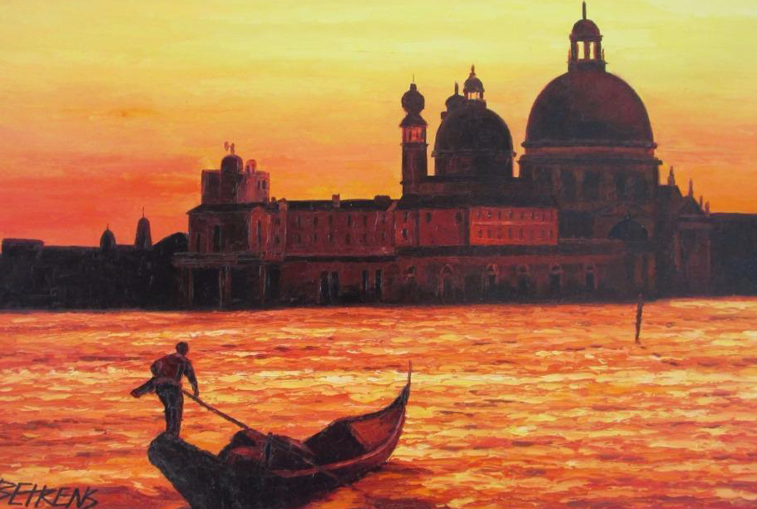 Sunset on the Grand Canal I 2008 43x31