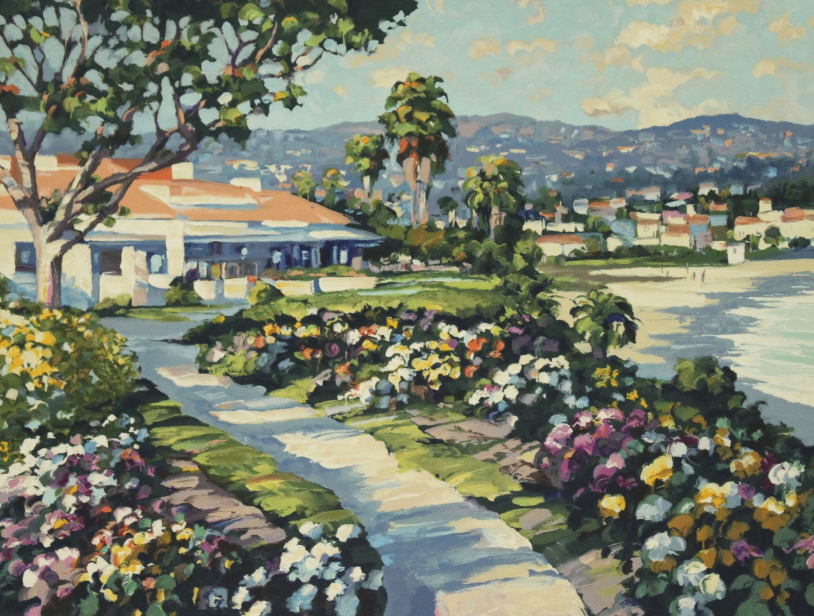 Grove Street and Las Brisas, Laguna Beach, Suite of 2 Prints 1994