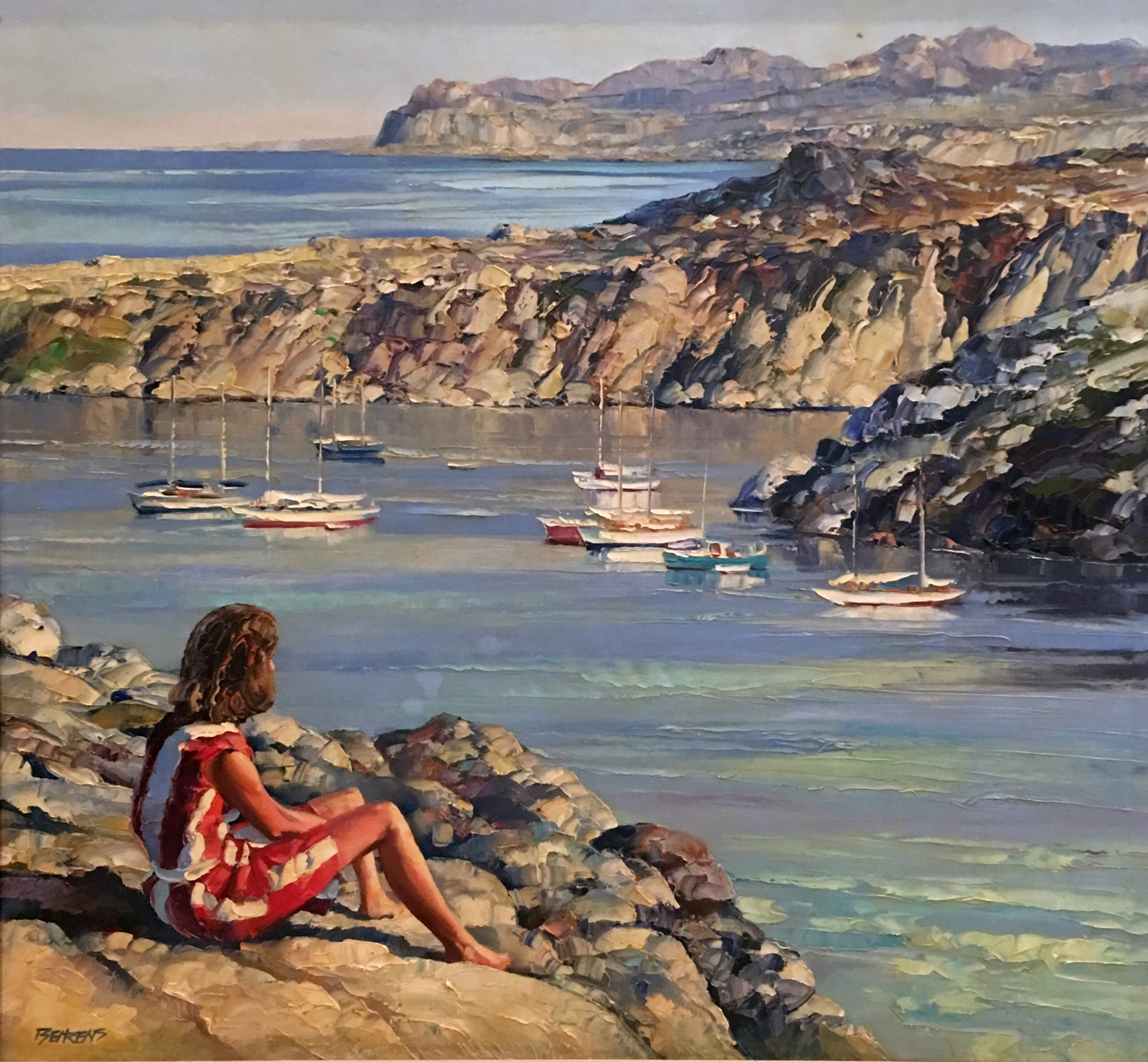 Untitled Seascape 49x53 by Howard Behrens