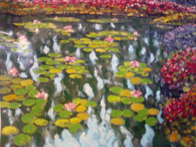 Tribute to Monet: Pond in Bloom