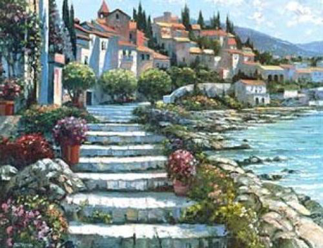 Steps of St. Tropez, France Embellished