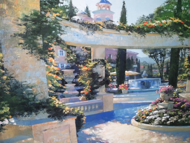 Bellagio Garden, Italy Embellished