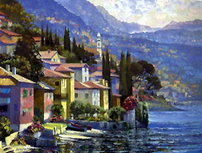 Impressions of Lake Como, Italy Embellished