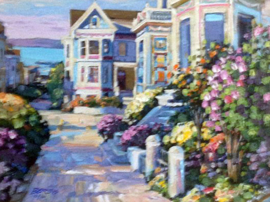 Grove Street Canvas and Las Brisas, Set of 2  1994 Embellished