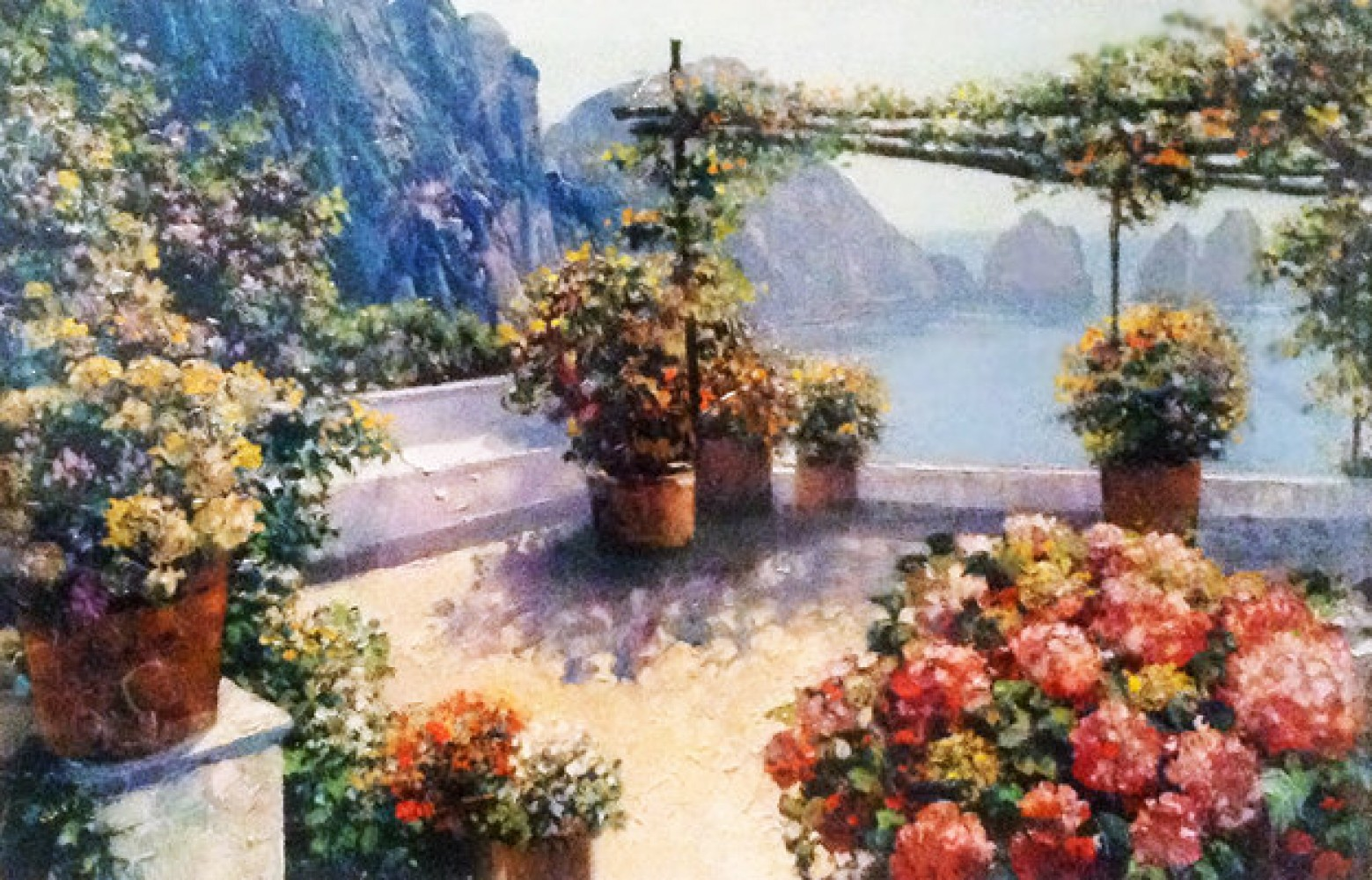 Patio Over Capri  2003 42x35