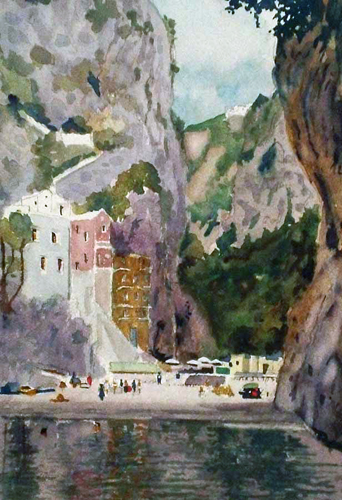 Amalfi Coast Watercolor 2004