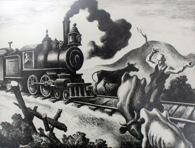 Slow Train Through Arkansas by Thomas Hart Benton
