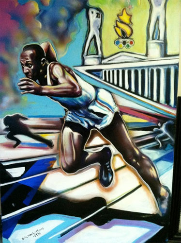 Untitled (Jesse Owens Centennial Olympic Games) 72x60