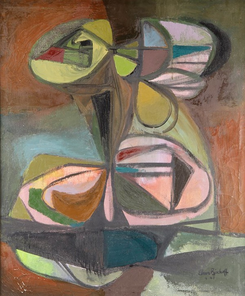 Clustered Objects 1947 42x36