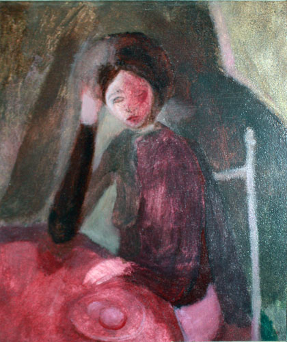 Girl With Eggs 1968 27x23