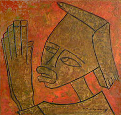 Haitian Figure 1950 by Angel Botello