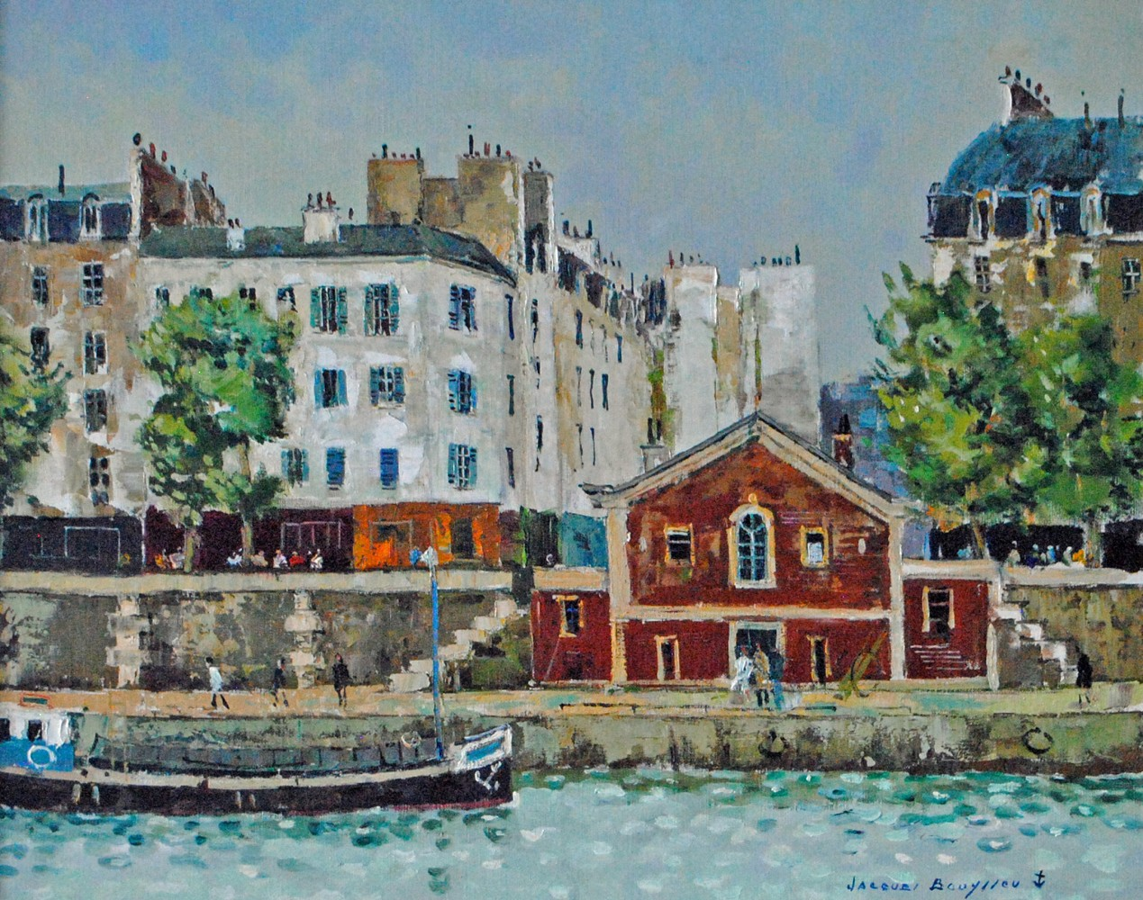 Paris - Quai De Paris 1985 35x41