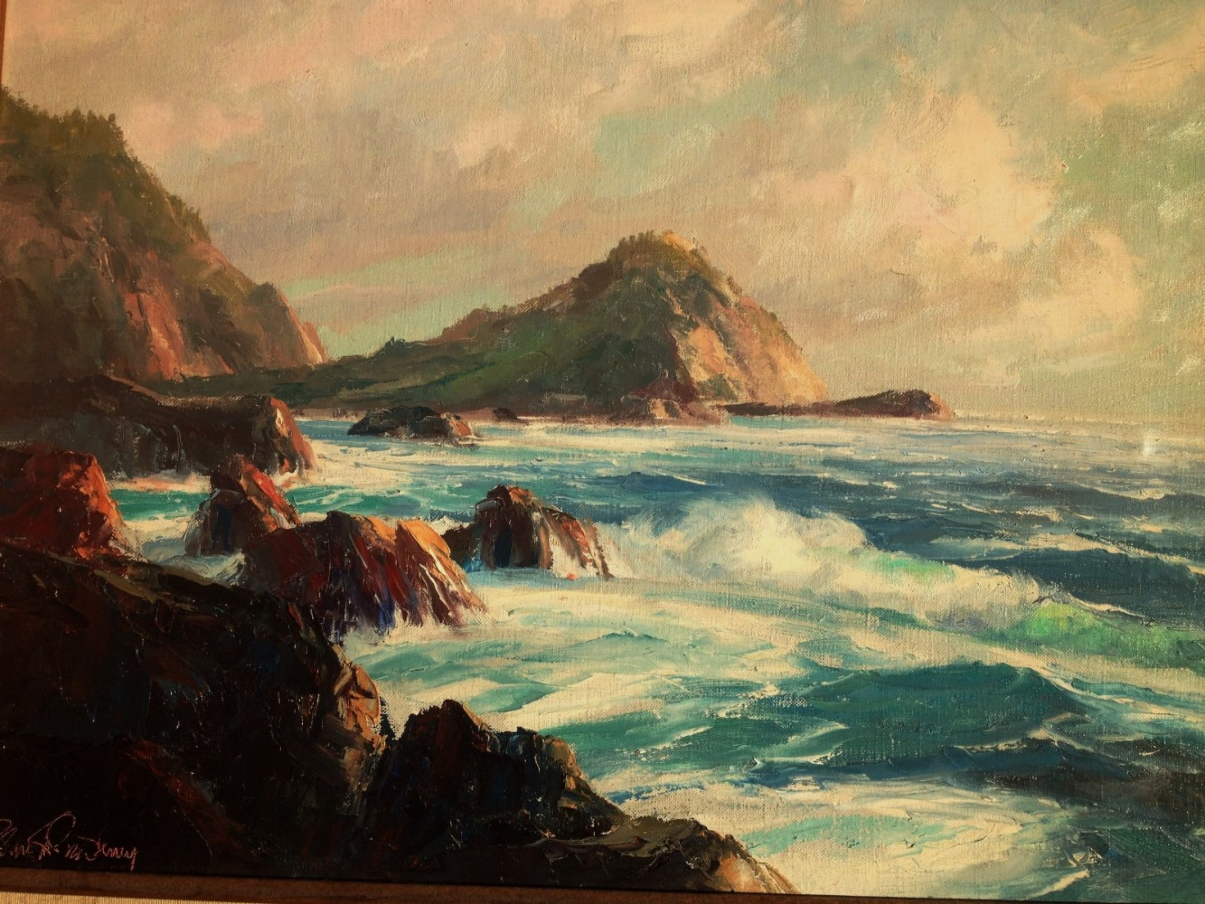 Untitled California Seascape 1986 25x29