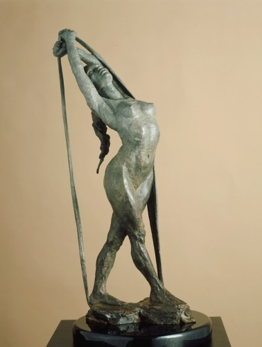 Release Bronze Sculpture 1996 22 in