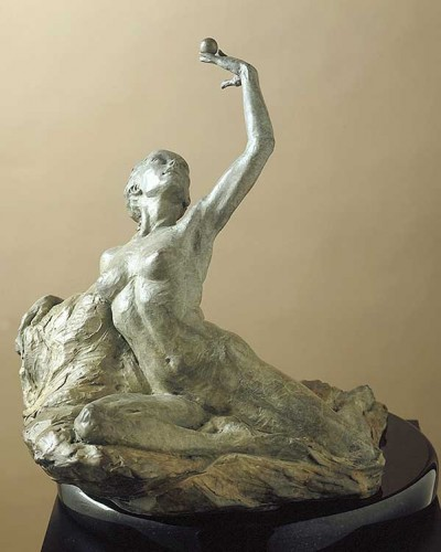 Breath Bronze Sculpture 13 in