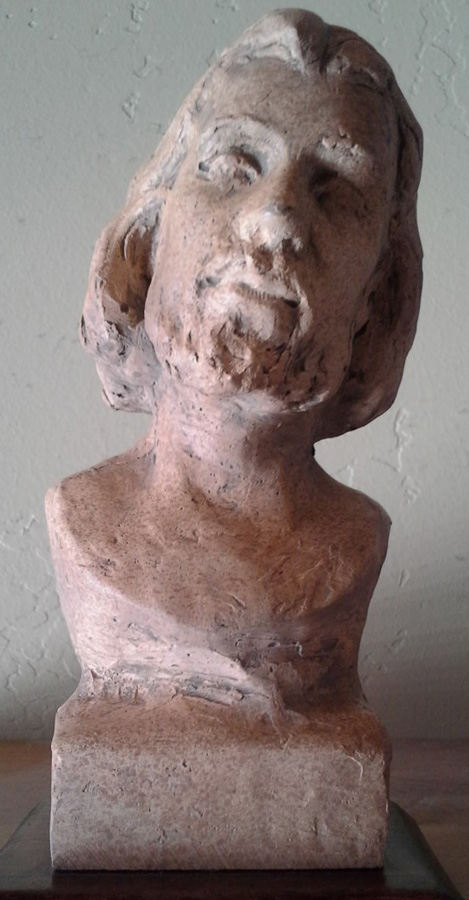 Bust of Christ Clay Sculpture
