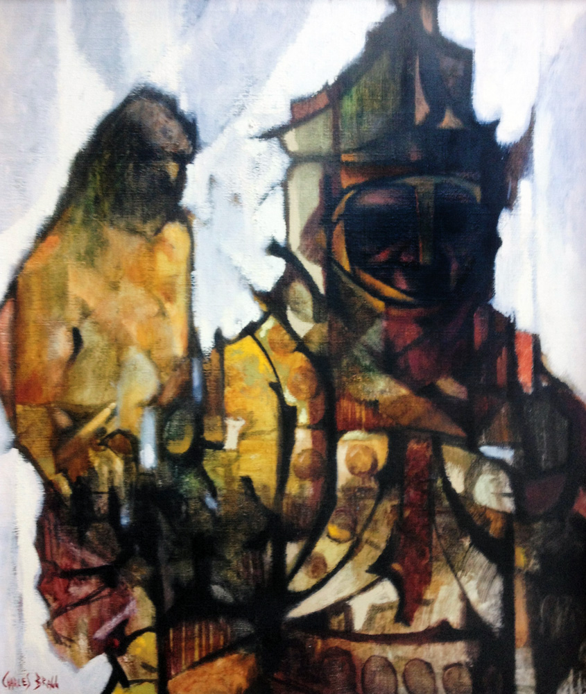 Falcon and Falconer 1961 26x22 by Charles Ray Bragg