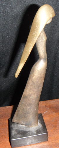 Jasmin Bronze Sculpture 1983 9 in