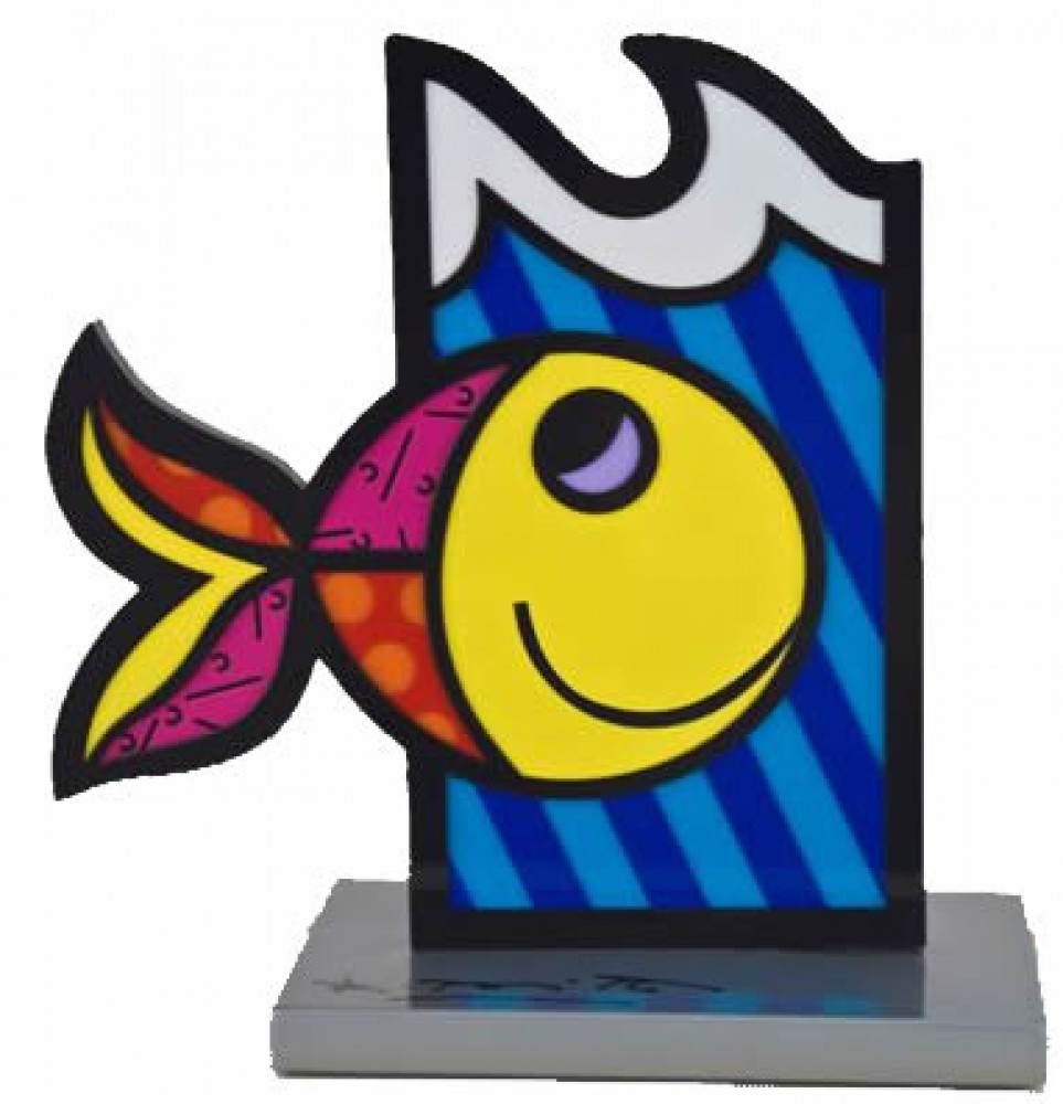 Boom Fish Aluminum Sculpture 2005 8 in